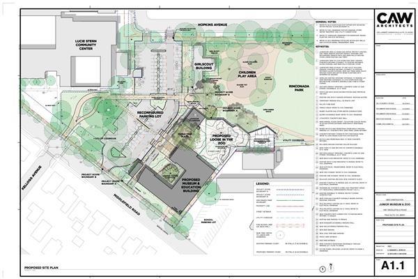 Blueprint of new Rinconada site